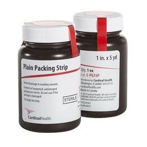 "Cardinal Health™ Sterile Plain Packing Strip 1"" x 5 yds"