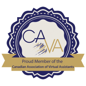 Logo for membership of Canadian Association of  Virtual Assistants