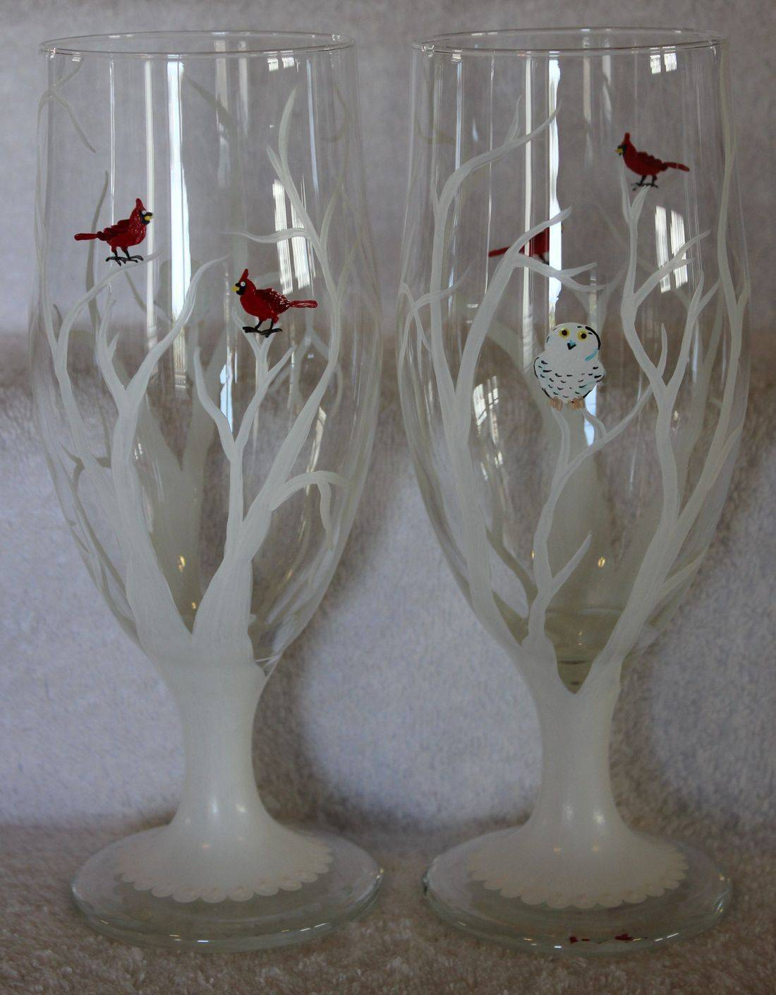 white tree beer glass
