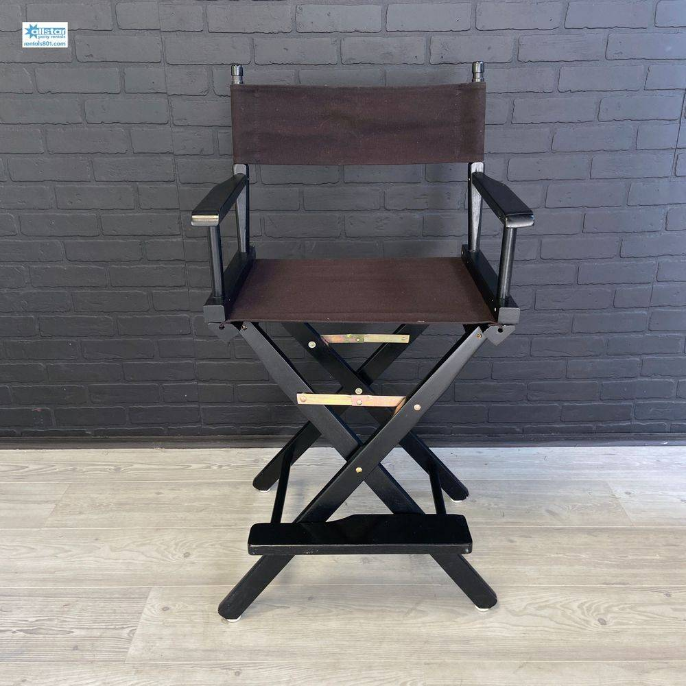 www.rentals801.com/chairs. Black Director's Chair