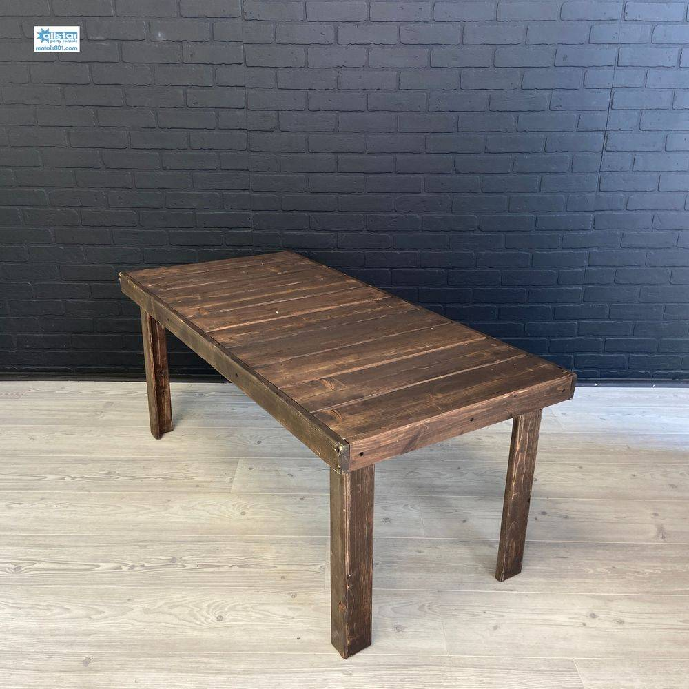 Farmhouse Style Table. www.rentals801.com/tables
