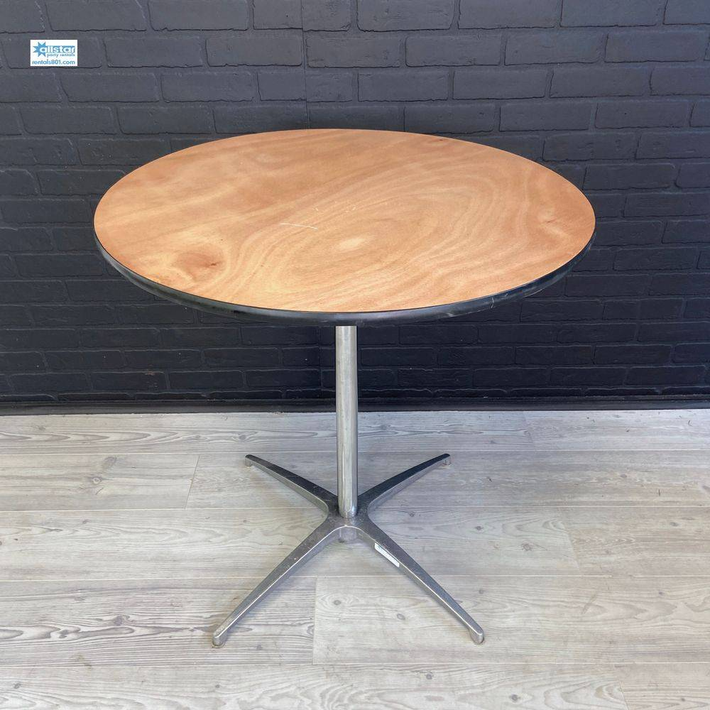 round cocktail table www.rentals801.com/tables