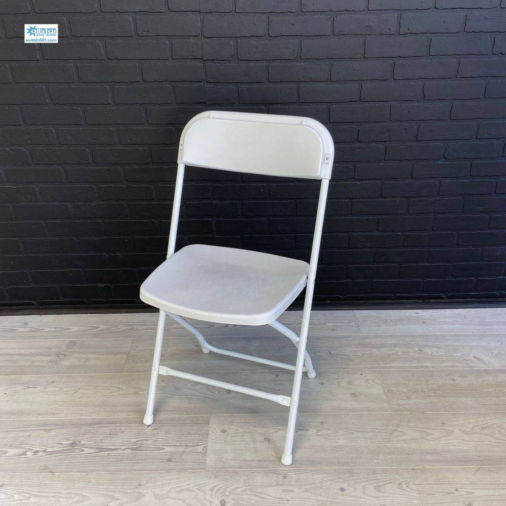 www.rentals801.com/chairs Basic White Folding Chair
