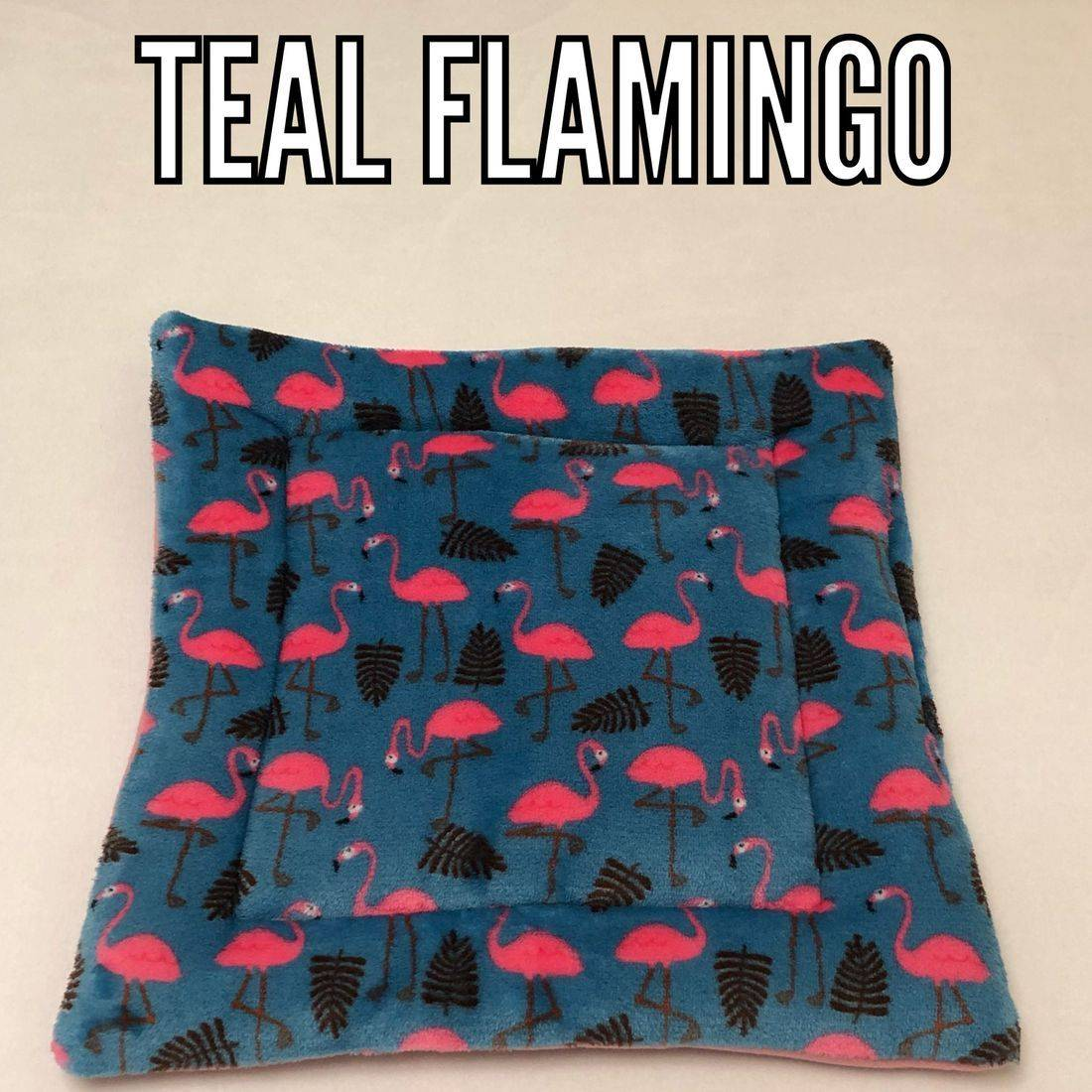 Teal Flamingo fabric