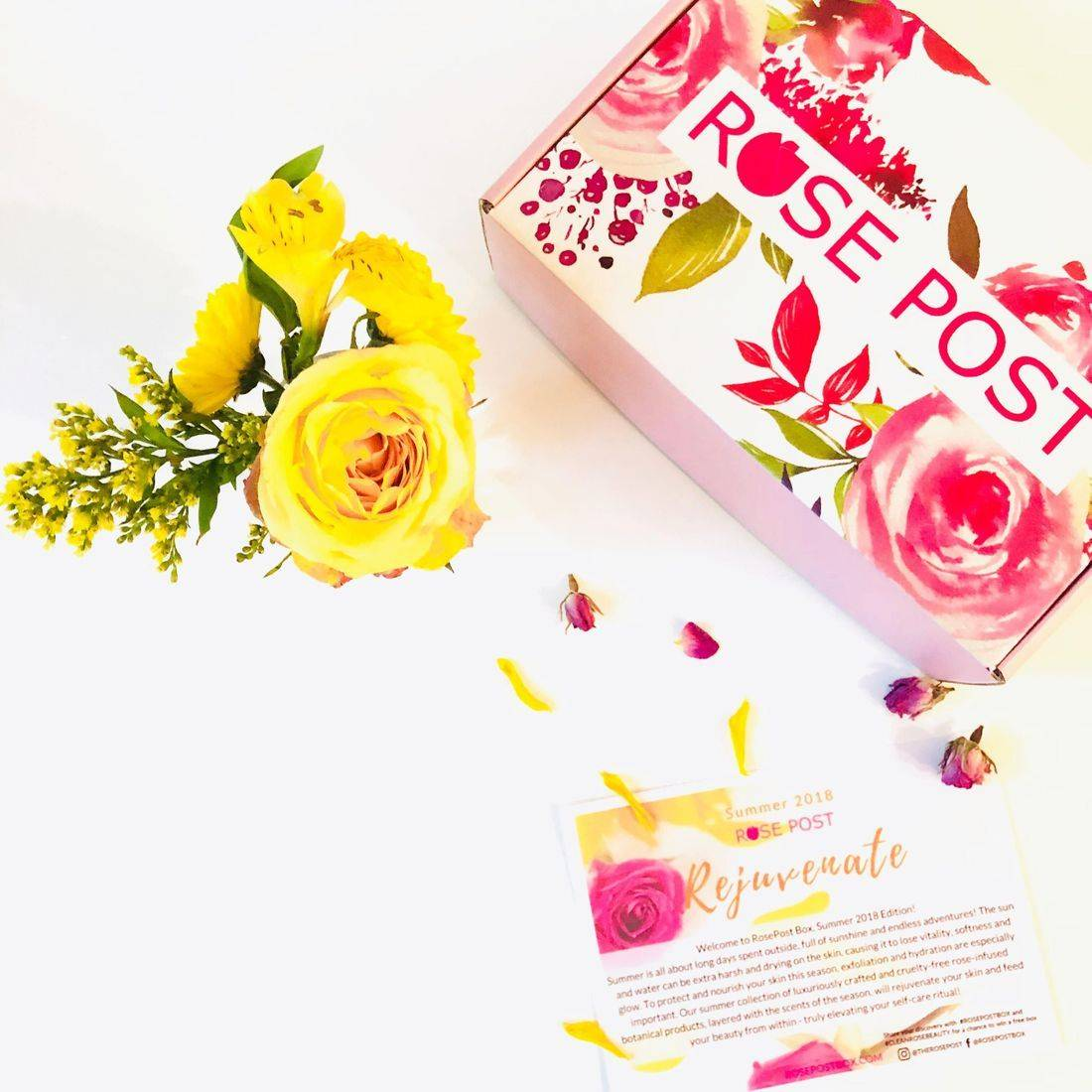 RosePost Summer '18 Box, Rose Beauty, Clean Rose Beauty, Rose-infused beauty, Rose Skincare, Best Rose Products