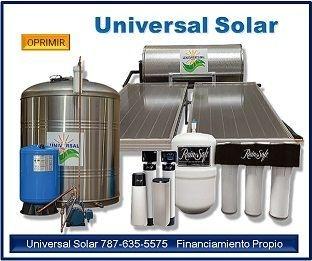 oferta calentadores solares, cisternas Puerto Rico