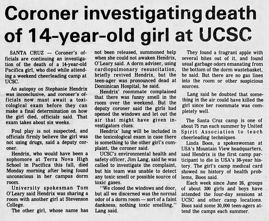 suicide University of Santa Cruz haunted
