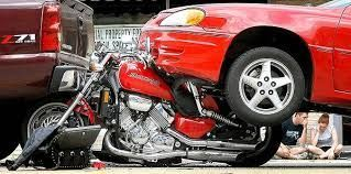 in the car/truck versus motorcycle contest, this motorcycle lost