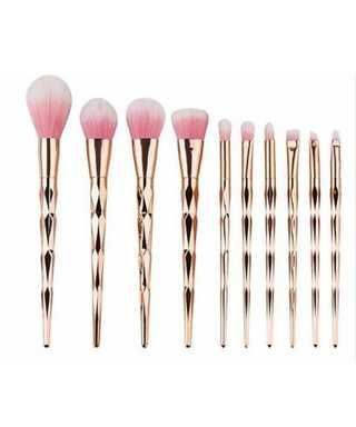 ROSE GOLD DIAMOND BRUSHES, UNICORN MAKEUP BRUSHES, MAKEUP BRUSHES