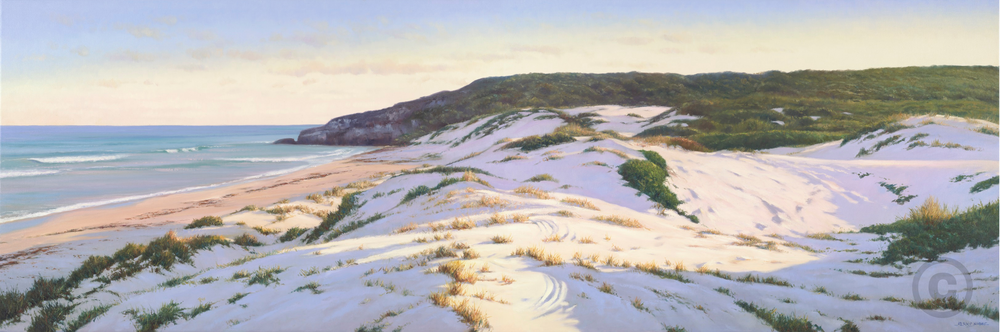 Ocean Reef Beach Morning Sand Dunes Oil Painting Giclee Print