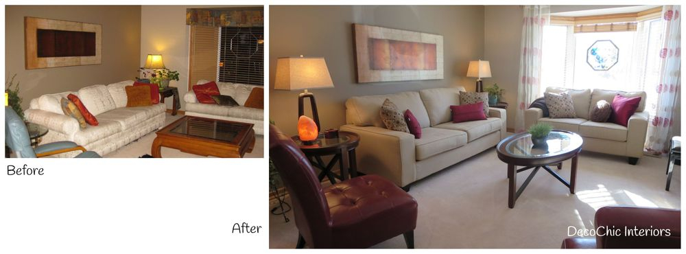 before and after decorating transformation winnipeg manitoba decochic interiors kelly penuita