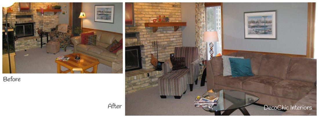 decorating before and after winnipeg manitoba decochic interiors kelly penuita