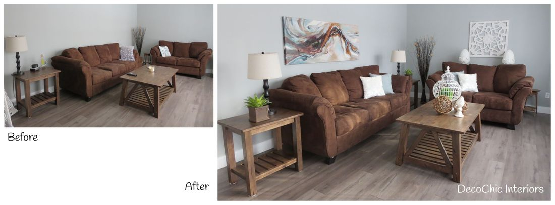before and after occupied staging winnipeg manitoba decochic interiors