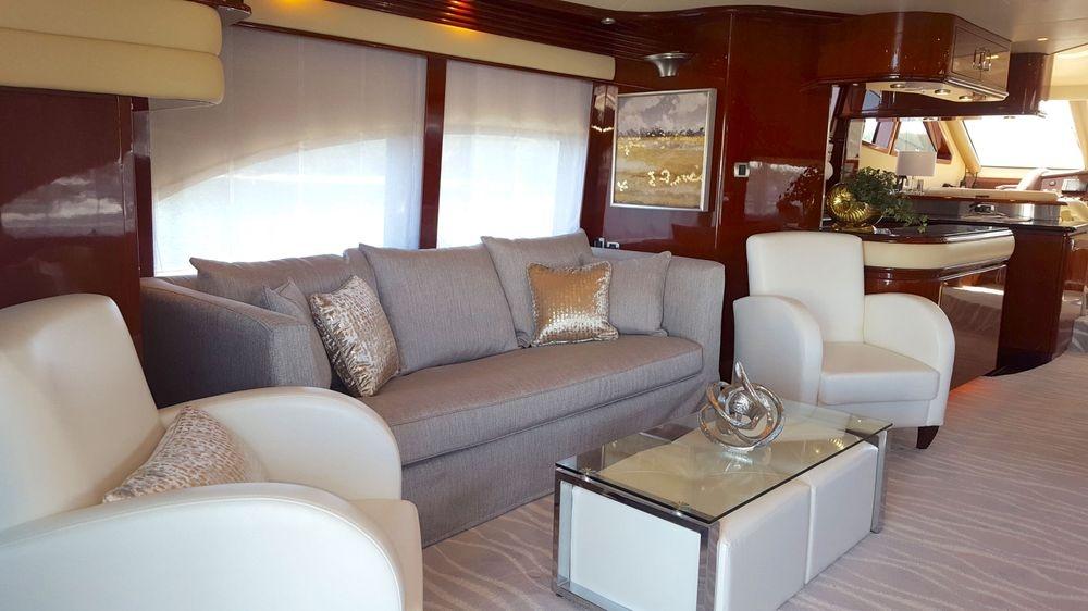 Newport yacht Interiors, yacht furniture, custom cushions