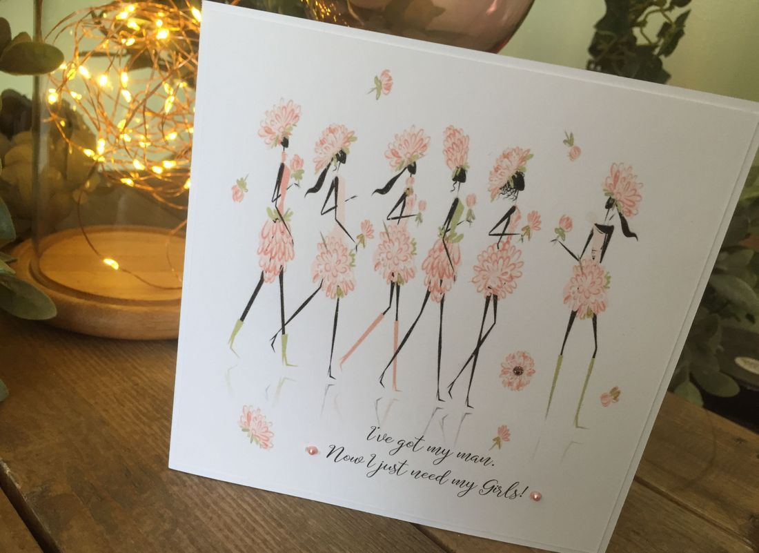 Personalised Bridesmaids cards