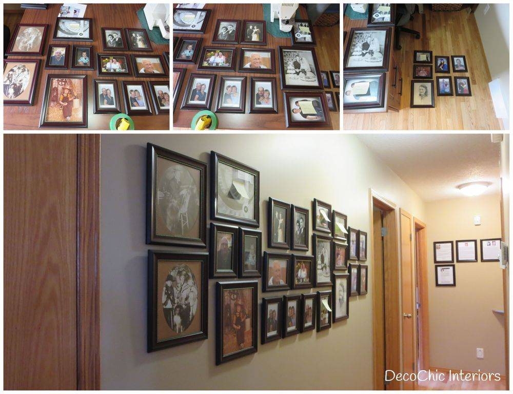 decorating winnipeg art hanging collage gallery wall family photos decochic interiors