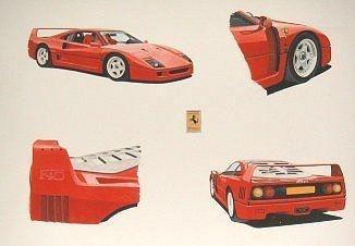 Ferrari F40 multi view
