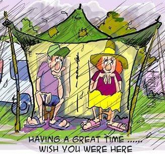 tent, rain, camping, camper, RV Park