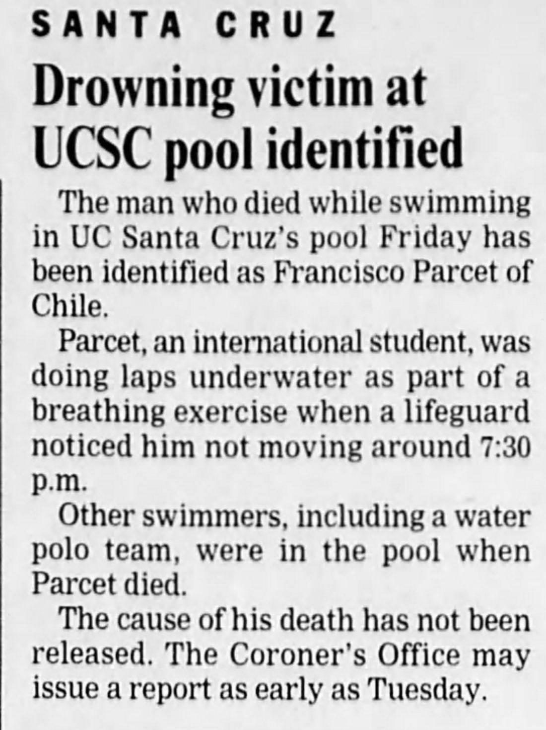 death University of Santa Cruz haunted