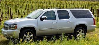 An 8 Passenger SUV from Napa Sonoma Wine Tasting Driver.