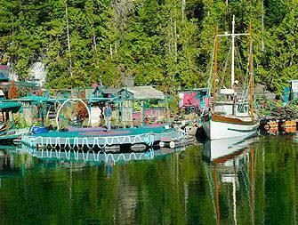 Beautiful Catherine's floating garden just North of Meares Island.