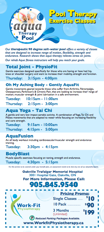 Total Joing Physiofit/Aqua Yoga/Oh My Ackeing Back