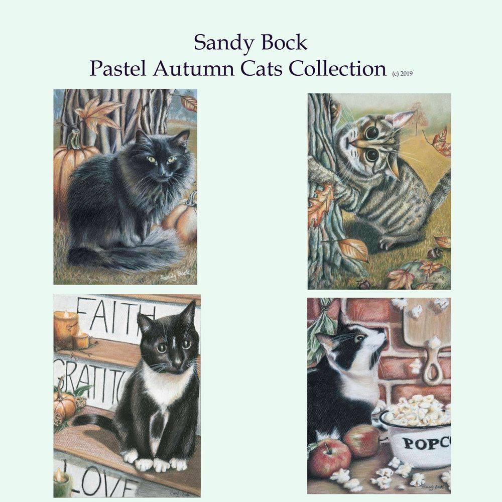 sandy bock, cats, cat art, cat illustrations, black cat, illustration art