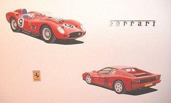 Ferrari 250 TR and Testarossa