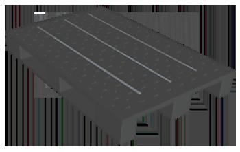 Kufen-EURO-Basispalette, mit Stahlverstärkung, gelocht