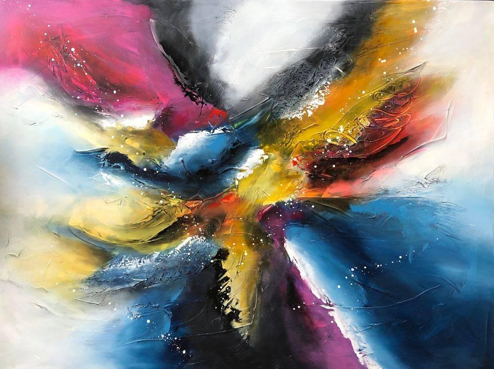 Vægkunst-køb-store-farverige-malerier