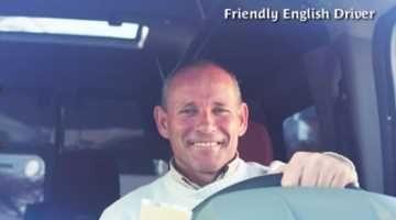 Friendly English driver