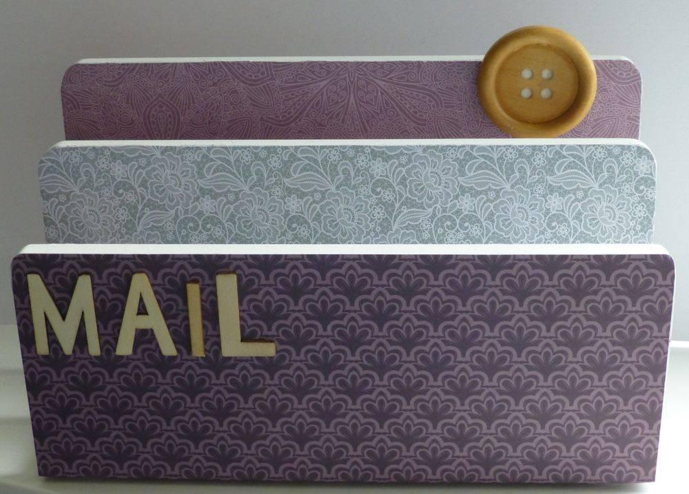 Purple Letter Holder