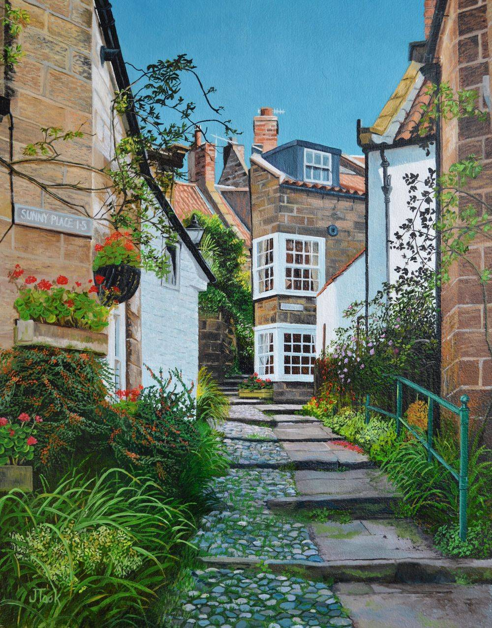 Jane Took Art Filey Painting Robin Hoods Bay