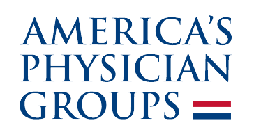 Logo with words America's Physician Groups
