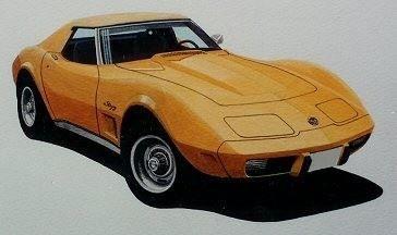 Corvette Stingray (Acrylic) : SOLD UK