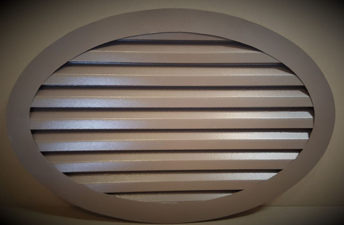 Aluminum oval gable vent