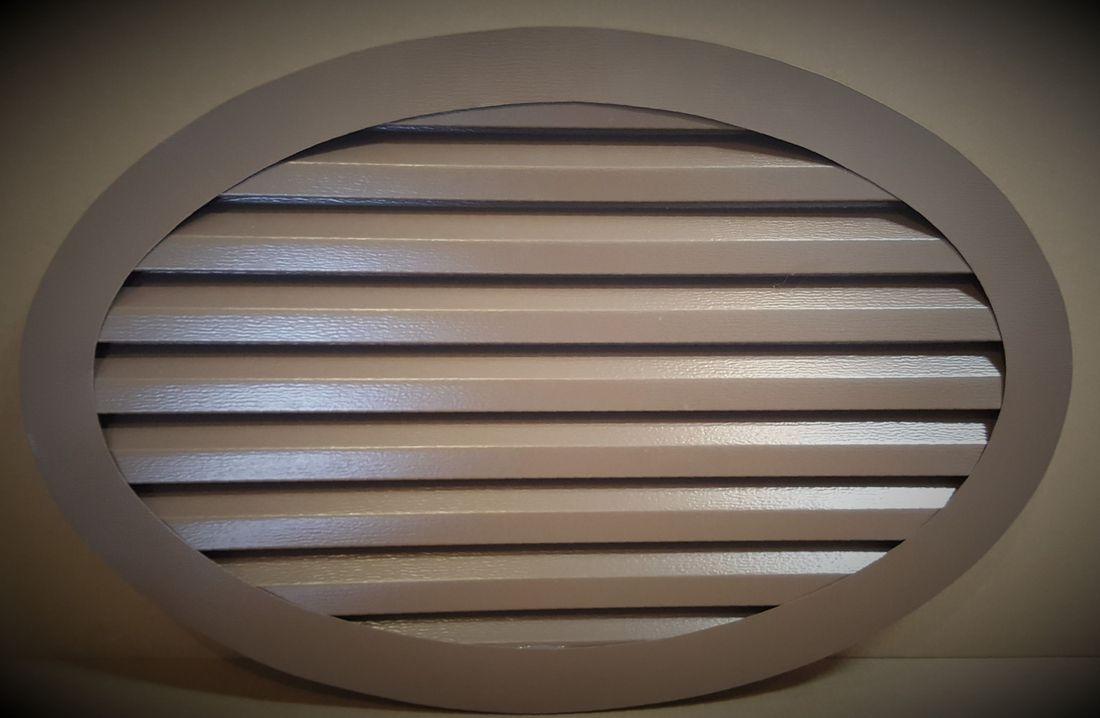 Aluminum oval gable vent