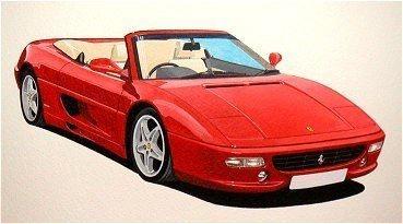 Ferrari 355 Spider  (Acrylic) : Commission (UK)