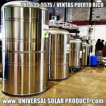 instalacion de cisternas en Puerto Rico por Universal Solar