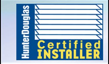 Hunter Douglas Certified Professional Installer