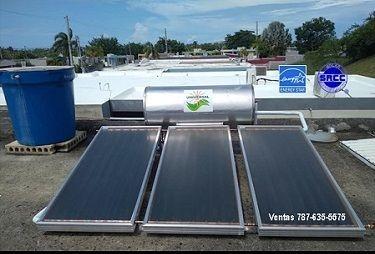 Calentador solar y cisterna de agua
