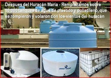 Tanque de agua - Resistente Huracanes