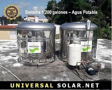 Tanque de agua de 600 galones. universalsolarpr.com. 787-635-5575