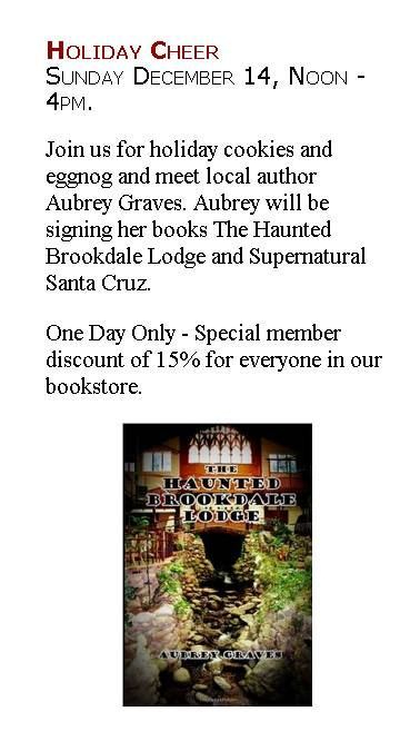 Brookdale Lodge book boulder creek museum haunted