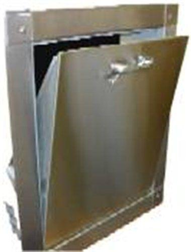 """Chute Doors  Stainless Steel Intake Door & Frame Rated U.L. """"B"""" 1 1/2 Hour Self Closing Self- Latching Clog Proof stainless steel hinge Full hydraulic door closer"""