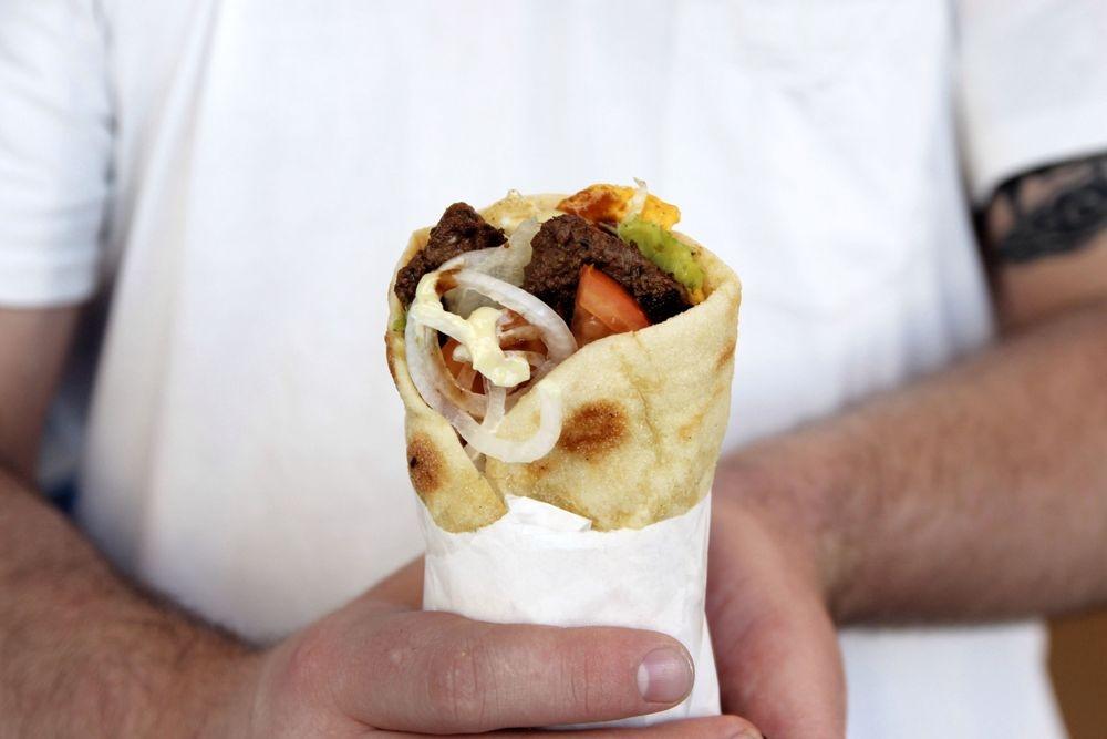 Lamb Yiros Souvlaki Pita Greek Kebab best Perth