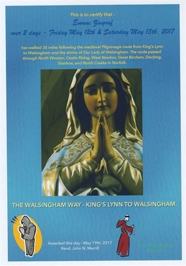 KINGS LYNN- PILGRIM CERTIFICATE