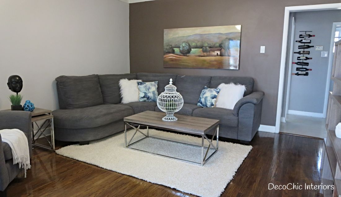 staging winnipeg livingroom grey chrome faux fur certified staging professional realestate staging expert decochich interiors