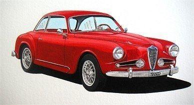 Alfa Romeo  (Acrylic) : Commission (UK)