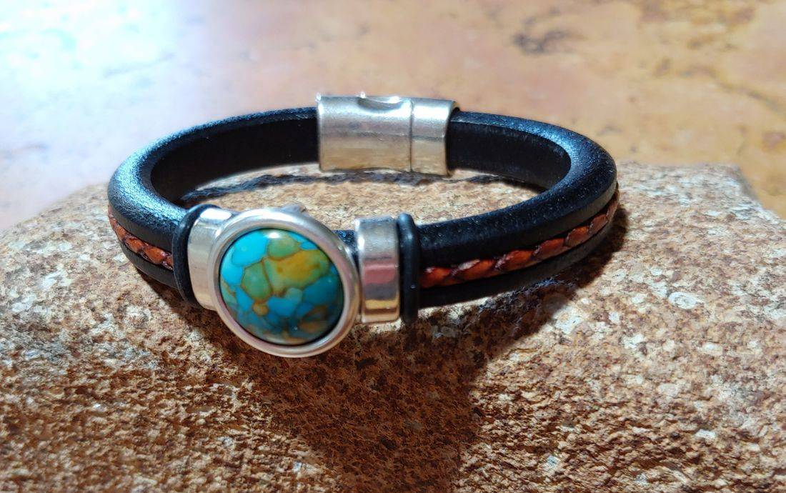 Regaliz Leather Bracelet